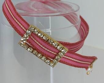 Summer Fun!  Peony Pink Grograin Bracelet