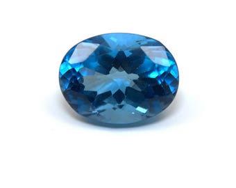 London Blue Topaz AAA Natural Gemstone Oval Cut 12.5ct 16x12mm