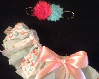 Fabric tutu and headband