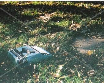 Blue Typewriter - Film Photograph