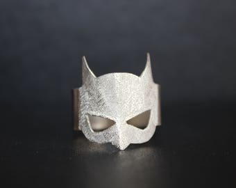 Batman Mask Ring. Handmade silver ring. Exclusive ring.