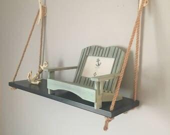 Nautical Rope Shelf