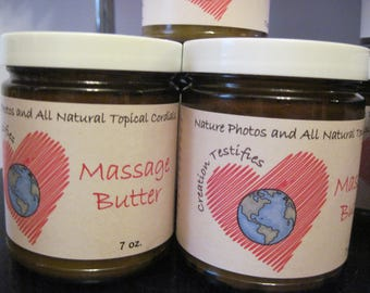 All Natural Massage Butters and Oils