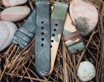 vintage came leather straps