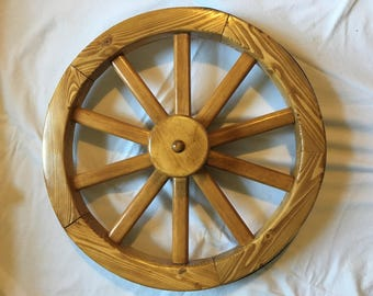 Wooden Wagon Wheel for Display