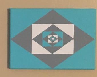 Triangular Pattern Painting