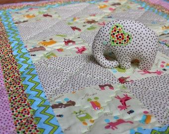 Baby blanket, quilted baby blanket, handmade baby blanket, blanket for newborn,
