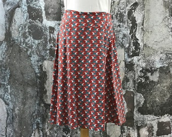 Size 6 and 12--Organic Knit Skirt in Fox fabric