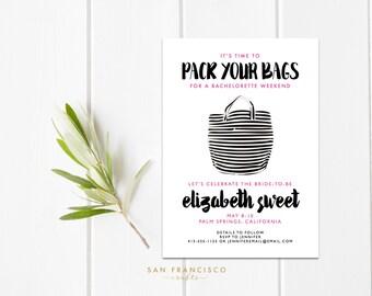 Bachelorette Weekend Invitation | Girls Weekend Invite | Bachelorette Party Invitation - Printable, Digital Invite - PDF or JPG