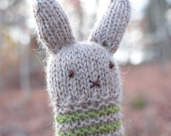 Hand Knit Bunny Wool Baby Shower Gift