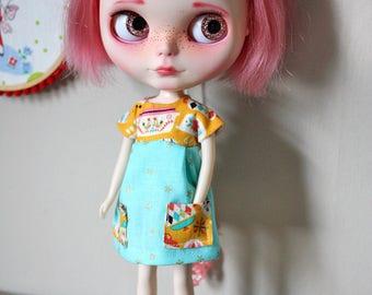 Pyrex Party Pocket Dress for Blythe Doll