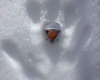 There's Always the Sun - Carnelian Agate Ring