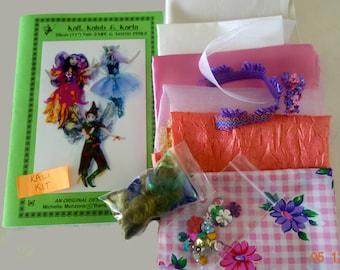 "Fairies/ Pixies- Mix and Match- PATTERN and KALI KIT- 11""  (28 cm ) #fairies #pixies #elves #fabric #michellemunzone #textiles #artdolls"