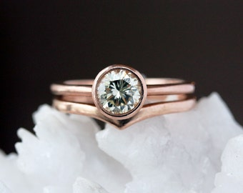 Large Diamond Ring, Unique Engagement Ring, 14k Rose Gold Diamond Ring, Round Brilliant Diamond, Ethical Diamond Solitaire, Conflict Free