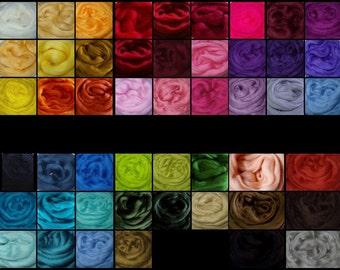 1oz, wool roving, needle felting wool, merino wool roving, spinning fiber, dread wool, dreads, dolls hair, wool hair, wet felting wool,30g