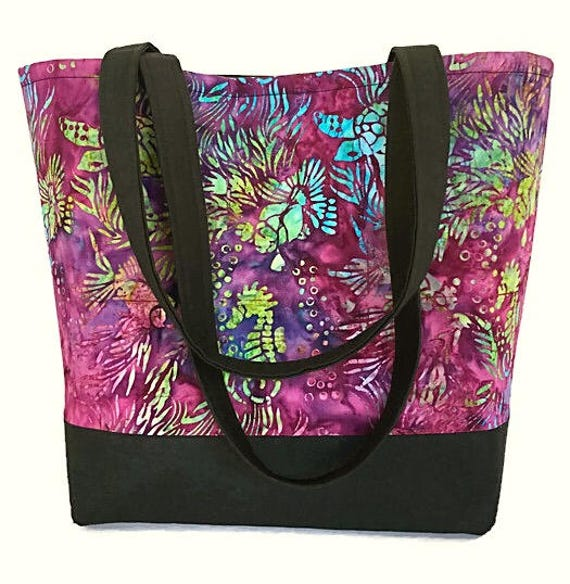 Beach themed Tote bag tote bag with pockets Seahorse and Sea