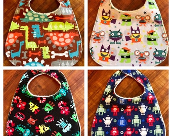 Baby Bib - Dinosaurs, Monsters and Robots