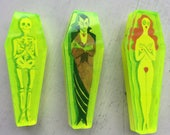 Neon acrylic Coffin Pin