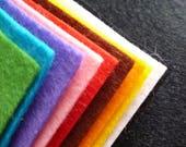 BASICS Wool Blend Felt Pack 10 squares