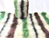 Polwarth/Silk 85.15 Handcarded Batt Colorway Birch Trees