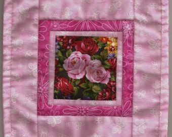 Free US Shipping! Miniature Rose Center #6178 Butterflies Dollhouse Quilt or Rug Great for OOAK Sculpt Doll