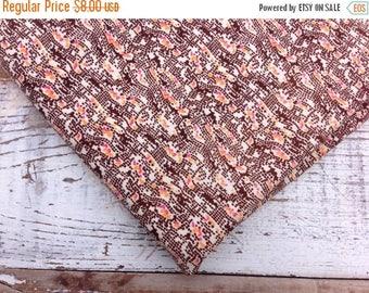 40% OFF- Brown Quilting Fabric-- Quilting Cotton Fabric-Retro Design