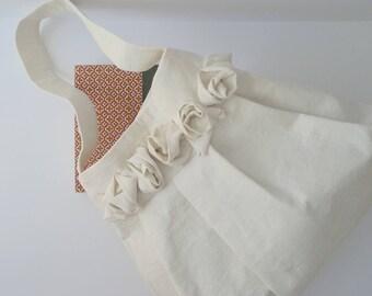 Bohemian Linen Tote Hobo Shoulder Bag