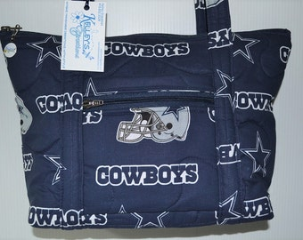 Quilted Fabric Handbag Purse Dallas Cowboys Football NFL