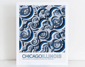 Chicago, Illinois travel poster