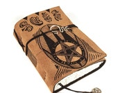 Spellbook, Journal, Leather, Handmade, Suede,