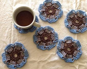 Crochet Coasters-Cornflower
