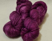 NEW Hand Dyed Mini Skein Merino Silk Fingering Weight 1 ounce 122 yards - Violent Violet Semi Solid get in on mini skein madness! VV3
