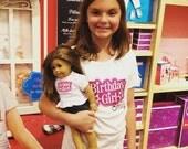 American Girl personalized Birthday Tshirt