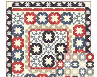 Starflakes quilt pattern from Coriander Quilts  - patterns for two different quilts