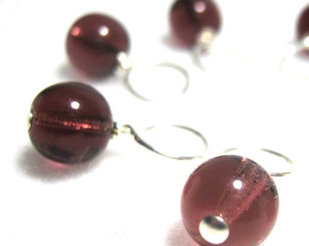 Grape Jelly Stitch Marker Drops for Knitting or Crochet (Choose Your Size - Set of 8)
