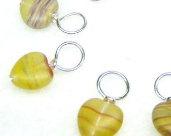 Nevada Hearts Droplet Stitch Markers Knitting or Crochet (Choose Your Size - Set of 10)