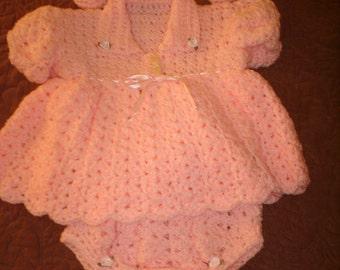 Girls 0-3months 4pc dress set