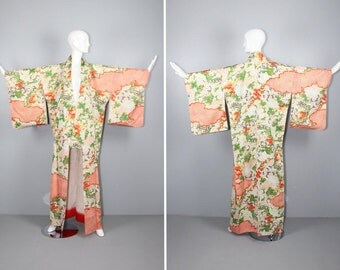 floral / vintage kimono / silk robe / BELLA LUCA dressing gown