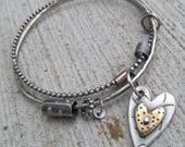 RESERVED for Carla- Charm for Bangle Bracelet