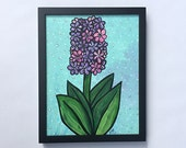 Purple Hyacinth Painting ...