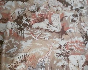 Vintage Safari Twin Flat bedsheet & 2 pillowcases