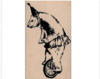 Banksy   graffiti   Banksy circus bear party hat balancing  rubber stamps   19977  stamping craft scrapbooking   supplies