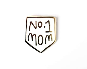 No. 1 Mom Enamel Pin