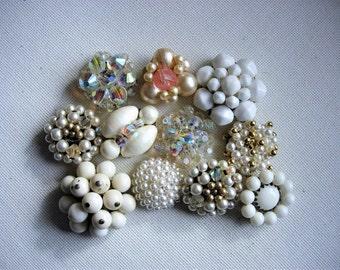 Craft Lot of Various Broken Vintage Beaded Earrings