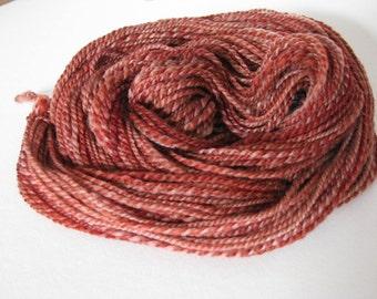 Hand spun 2ply dk Polwarth wool yarn 90 yards