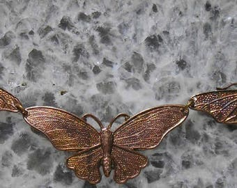 Vintage French guilding brass MOTH centerpiece for a gorgeous necklace..