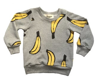 BANANA print kids sweatshirt
