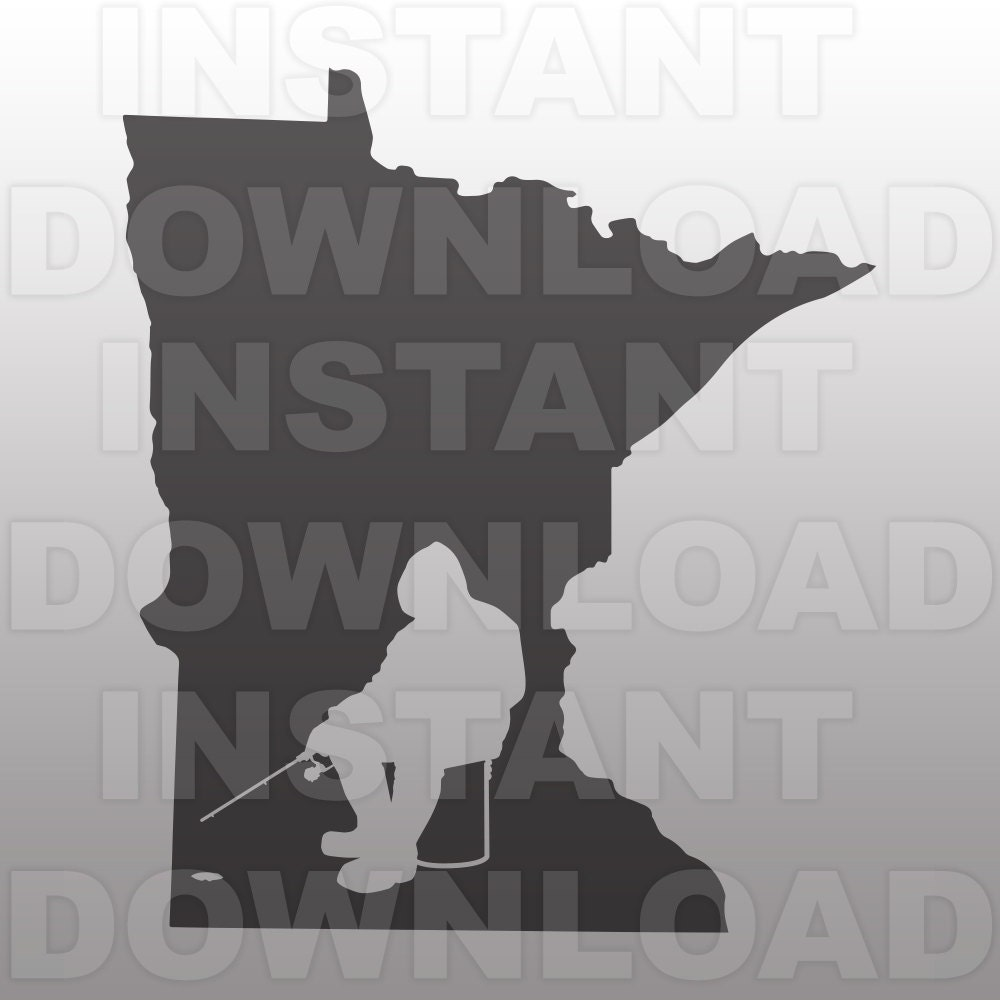 Minnesota Ice Fishing Svg File Commercial Amp Personal Use