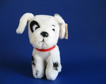 Vintage Dalmatian,Puppy Dog,Stuffed Animal,Walt Disney,Animated Film Classic 101 Dalmatians 1990s Toy Plush Softie Patch Pongo