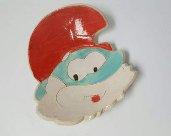 Papa Smurf Ceramic Dish